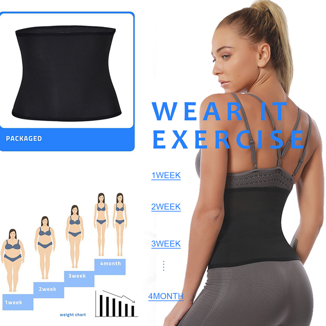 Gym Fitness Sports Exercise Waist Support Pressure Protector Body Building Trainer Trimmer Belt Slim Sweat For Women 2