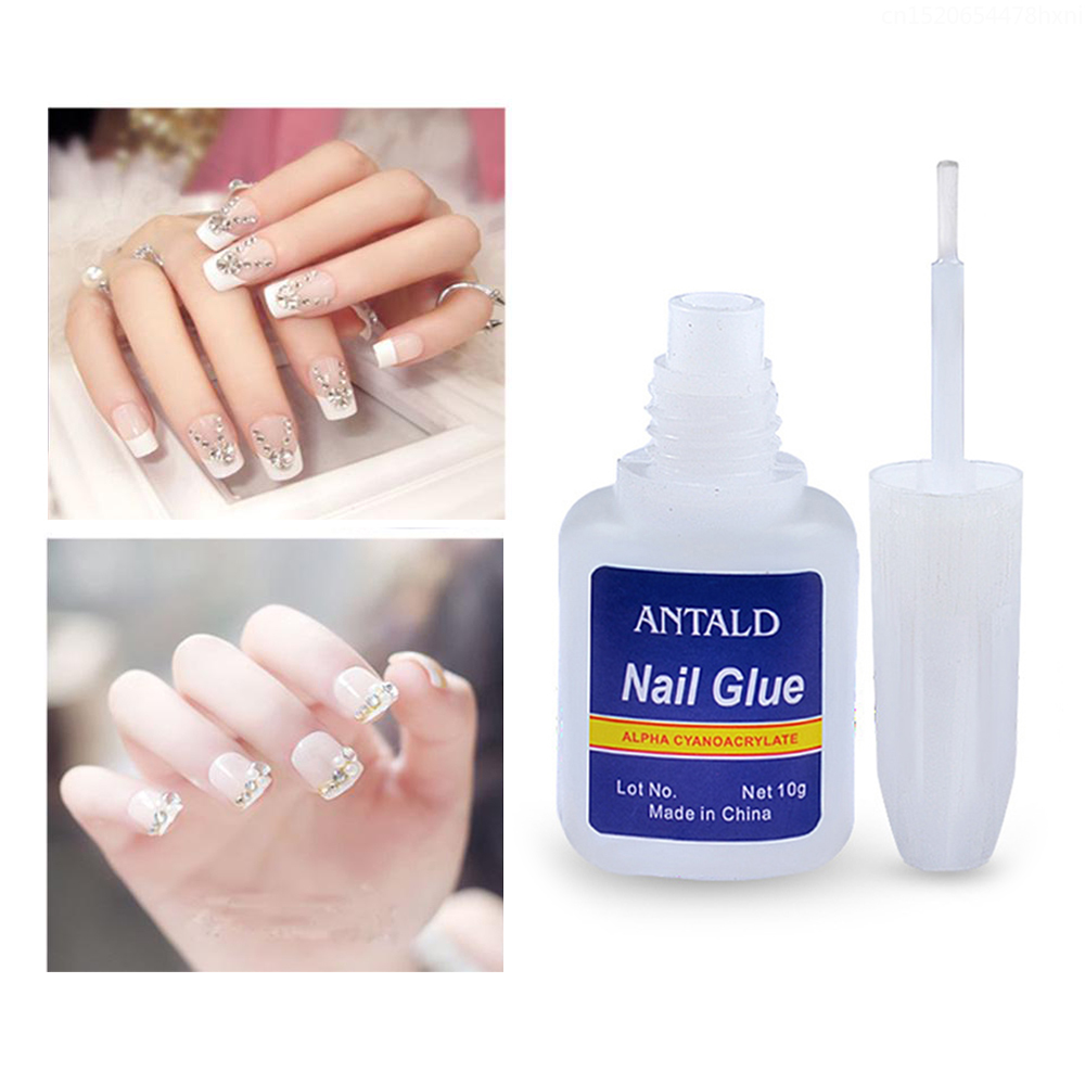 ELECOOL 10g Nail Glue With Brush For Nail Art Decoratie Adhesive Jewelry Rhinestone Glitter False Nail Sticky Quick Drying TSLM1