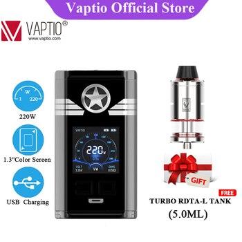 цена Free Tank !Popular Vape mod Original Vaptio CAPT'N MOD 220W Electronic Cigarette E Cig Box MOD support 18650 battery No battery онлайн в 2017 году