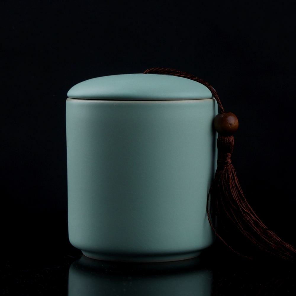 [GRANDNESS] Jingdezhen Ruyao Chinese Pottery And Porcelain Tea Storage Cheset Jar Sealing TiKuanYin Puer Black Tea Caddy