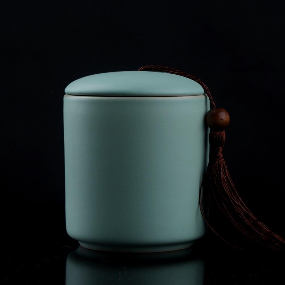 [GRANDNESS] Jingdezhen Ruyao Chinese Pottery And Porcelain Tea Storage Cheset Jar Sealing TiKuanYin Puer Black Tea Caddy
