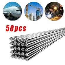 50 шт. низкотемпературная сварочная проволока алюминиевый электрод флюс сердечник 500x2,0 мм