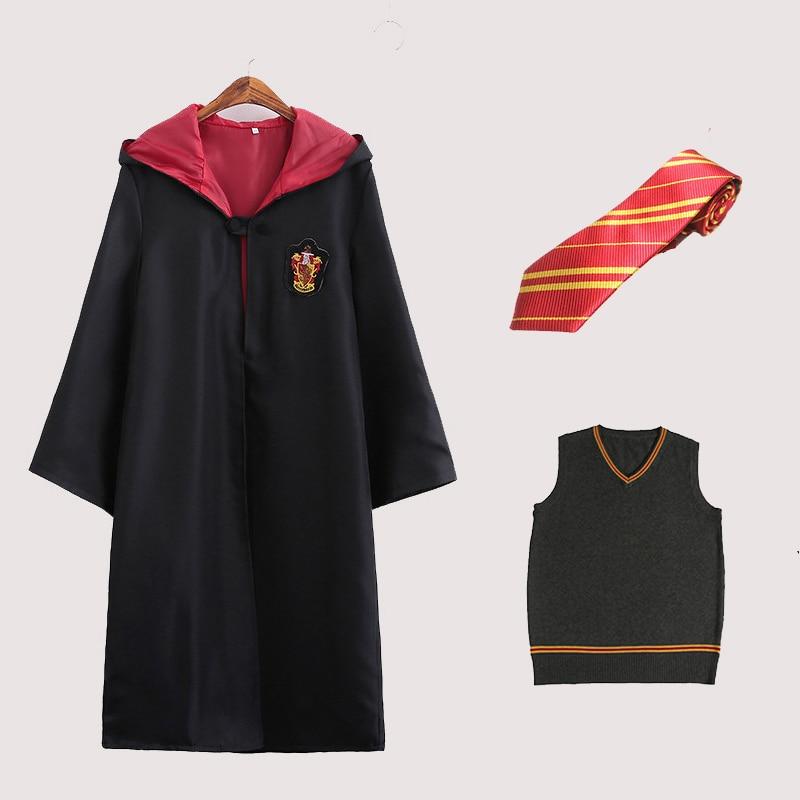 Hermione Granger Gryffindor Robe Costume Cape Cloak WithTie