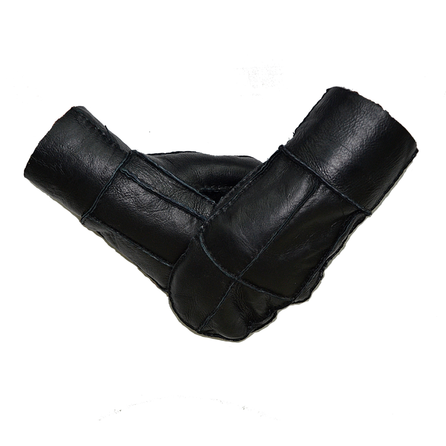 Men Leather Gloves, Natural Sheepskin Gloves, Easy To Wear Keep Your Hands Warm In Winter One Size