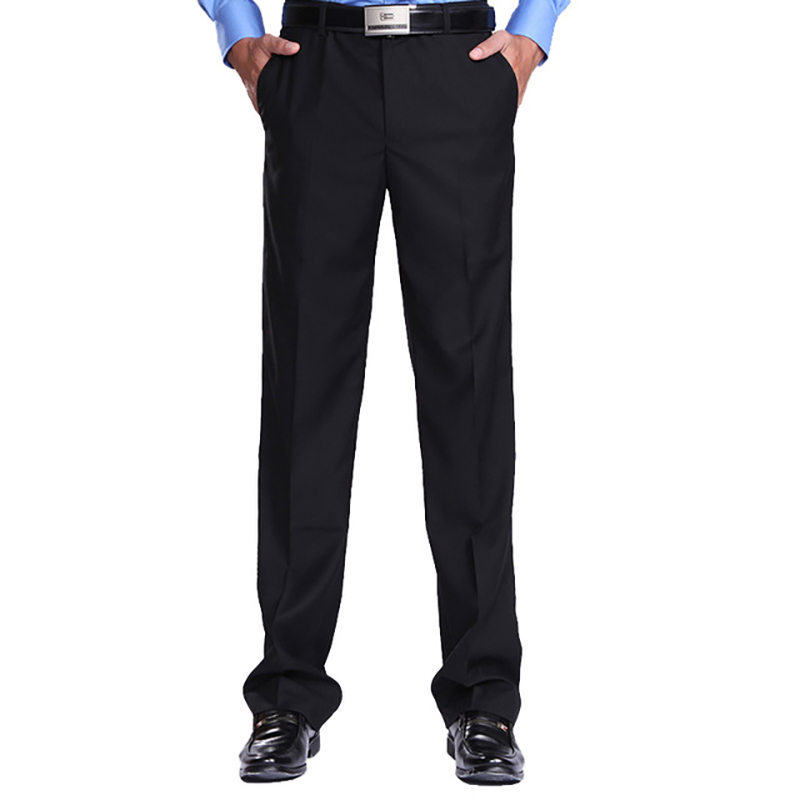 New Men Business Suits Formal Office Work Men Dress Pants Trousers Straight Plus Size Thin Office Dress Pants Mens Formal Pants