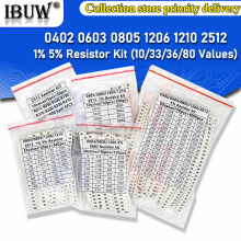 200PCS 660PCS 720PCS 4000PCS 0402 0603 0805 1206 1210 2512 SMD Resistor Kit igmopnrq Assorted Kit 10K 100K 1K 1R 100R 220R 1% 5%