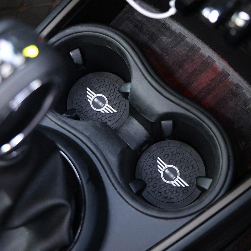 Supporto di Tazza auto Non-slip Zerbino Decorazione di Interni Auto Accessori Styling Per MINI Cooper Clubman R55 R56 R57 R58 r59 F54 F60