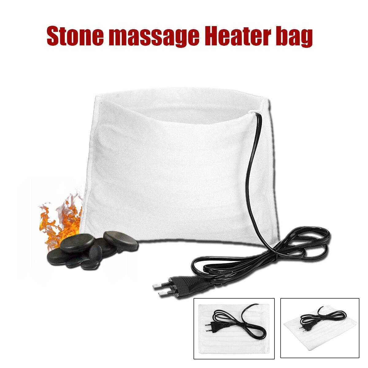 220V Natürliche Massage Heißer Stein Massage Lava Natürliche Energie Massage Stein Set Heißer Spa Rock Basalt Stein Massage mit heizung Tasche