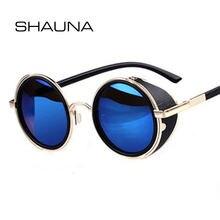 Мужские и женские винтажные очки shauna круглые солнцезащитные
