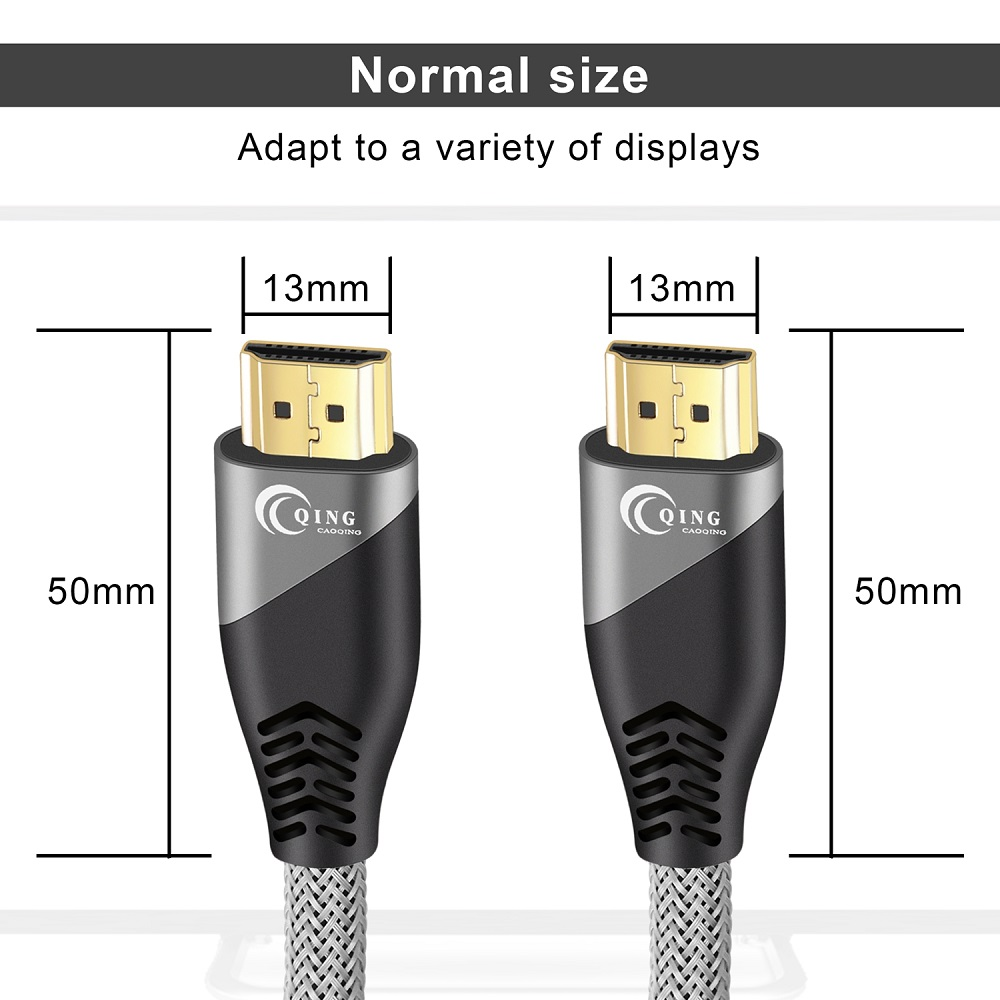 HDMI Cable HDMI 2.1 Cable 8K@60Hz 4K@120Hz Ultra High-Speed 48Gbps for Splitter Switch PS4 8K TV Digital Cables HDR10+ HDMI 2.1