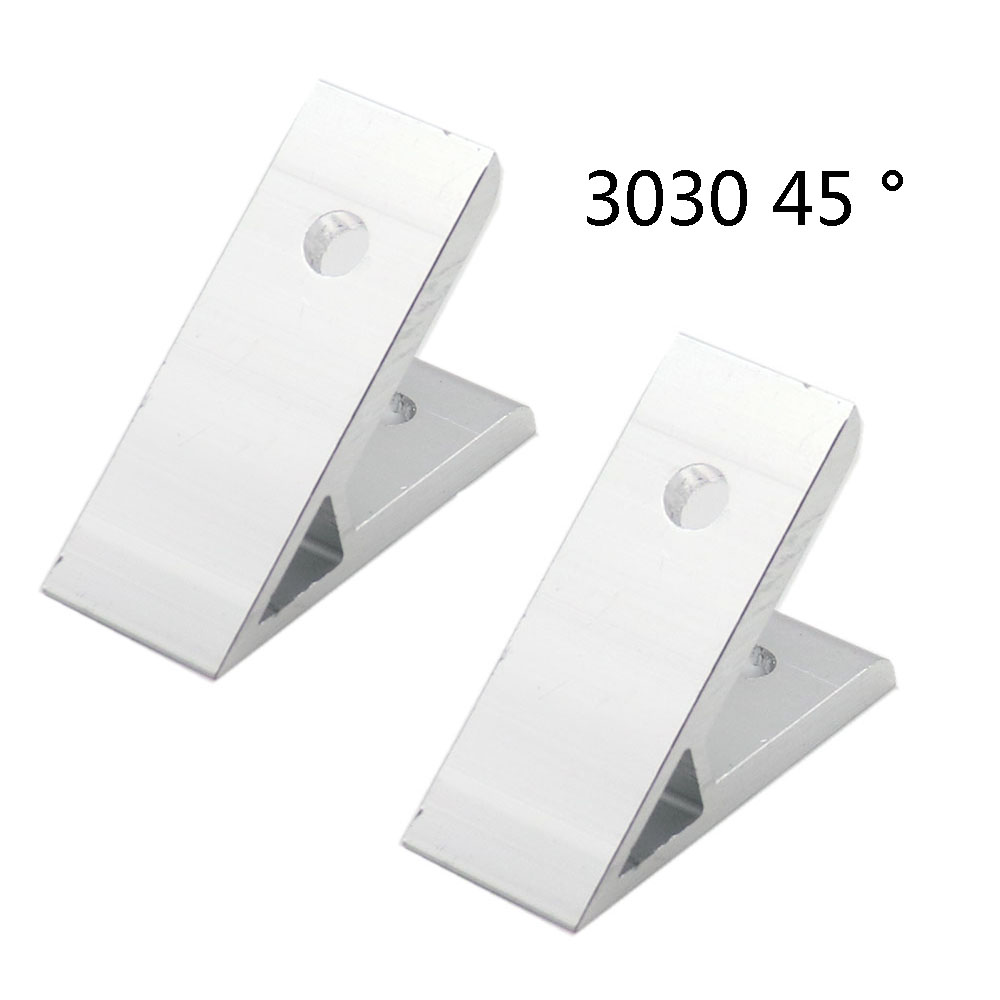 2pcs 45 Degree 3030 30x30 Corner Angle Bracket Connection Joint For 3030 EU Aluminum Profile