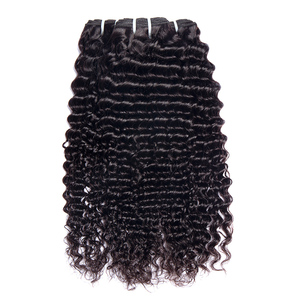 Image 2 - Malaysian Deep Wave Curly Bundles With Closure Human Hair Extensions Malaysian Curly Human Hair 3 Bundles With Closure