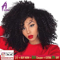 Mongolian Afro Kinky Curly Bundles 4B 4C Hair Extensions 8 30 Human Hair Weave Bundles 3 Pieces Alimice remy Hair 1B#