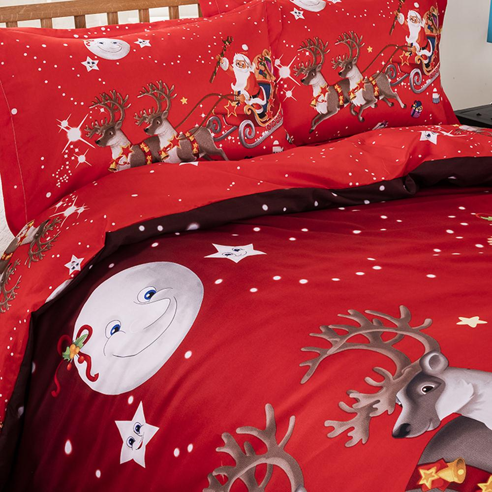 Image 2 - Bedding Set Santa Claus Pillowcase Christmas Decoration Hotel 