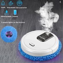 Casa mop vácuo sem fio molhado e seco multifuncional usb de carregamento umidificação spray baixo ruído inteligente varrendo robô