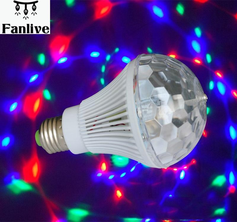 20 stücke E27 Led RGB Sound Control Wirkung Licht 110-240V Led Kristall Magic Ball Led Bühne Lampe disco Laser Licht Party KTV