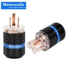 Monosaudio M103/F103 99.998% 99.998% Rame Puro US versione Spina di Alimentazione Audio Connettore di Alimentazione IEC320 C13 connettore Spina