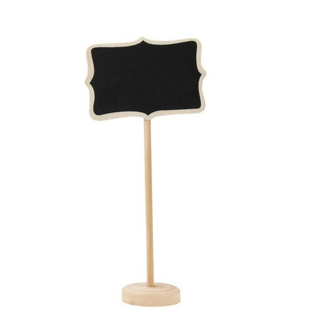 10Pcs Mini Wooden Chalkboard Blackboard Wood Message Notice Board For Table Wedding Party Decor Writting Information