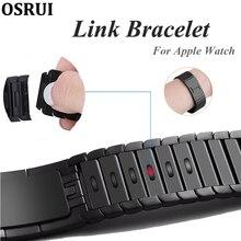 Bracelet à maillons, en acier inoxydable, pour Apple bracelet de montre 5 4 iwatch, 44mm 40mm 42mm 38mm 3 316L, accessoires