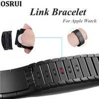 Strap Für Apple Uhr Band 5 4 correa iwatch 44mm 40mm 42mm 38mm 3 316L edelstahl stahl link armband pulseira uhr zubehör