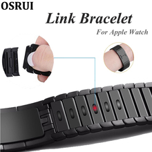 Strap For Apple Watch Band 5 4 correa iwatch 44mm 40mm 42mm 38mm 3 316L stainless steel link bracelet pulseira watch accessories