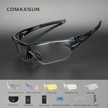 купить Comaxsun Polarized Sports Men Sunglasses Road Cycling Glasses Mountain Bike Bicycle Riding Protection Goggles Eyewear 5 Len 816 дешево