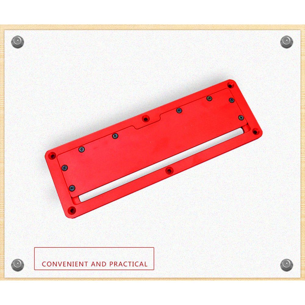 Electric Circular Saw Flip Cover Plate Flip-Floor Table Special Cover Plate Adjustable Aluminum Alloy Insert Plate For Table Saw