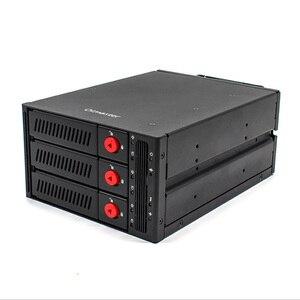 Oimaster 3 отсек жесткого диска корпус-стойка для хранения данных для 2,5 дюймов/3,5 дюймов Sata Hdd Sdd Hdd для 5,25 дюймов отсек для жесткого диска