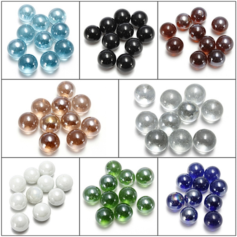10pcs 16mm Marbles Glass Balls Charms Clear Pinball Machine Home Decor For Fish Tank Vase Aquarium Gifts Toys For Kids Children