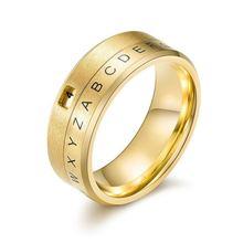 Обручальное кольцо из нержавеющей стали с 26 английскими буквами