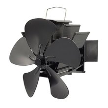 Stove-Fan Wall-Mounted Heat-Powered Silent with Magnetic-Thermometer Efficient Heat-Distribution