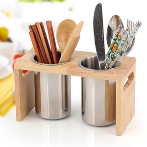 Image 5 - Multifunction Kitchen Countertop With Base Drain Stainless Steel Easy To Clean Mildew Proof Cutlery Holder Flatware Organizer