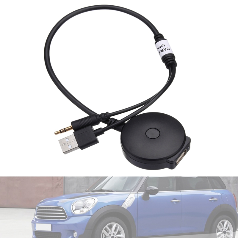 Car Wireless Bluetooth Audio AUX And USB Music Adapter Cable For BMW Mini Cooper