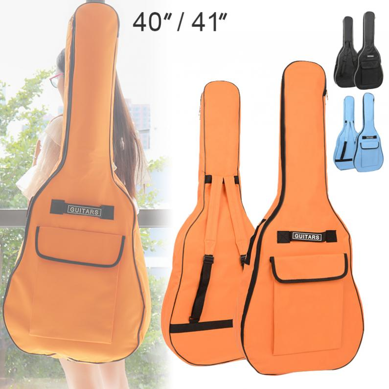 <font><b>40</b></font>/41 Inch Portable Oxford Fabric Acoustic <font><b>Guitar</b></font> Double Straps Padded <font><b>Guitar</b></font> Soft <font><b>Case</b></font> Gig Bag Waterproof Backpack image