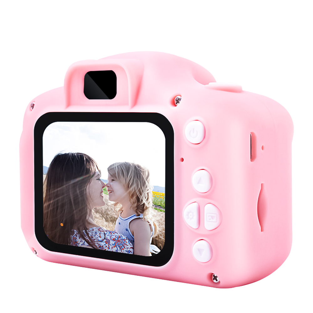 Mini HD Kids Camera Toy Cute Camcorder Rechargeable Digital Camera With 2 Inch Display Screen Children Educational Toy Outdoor