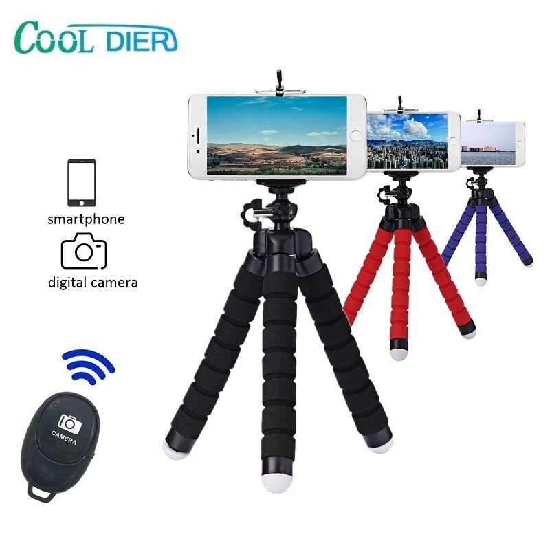 Прохладный DIER мини Портативный палка для селфи штатив-Трипод для монопод-держатель для телефона с Bluetooth затвора для камеры Gopro