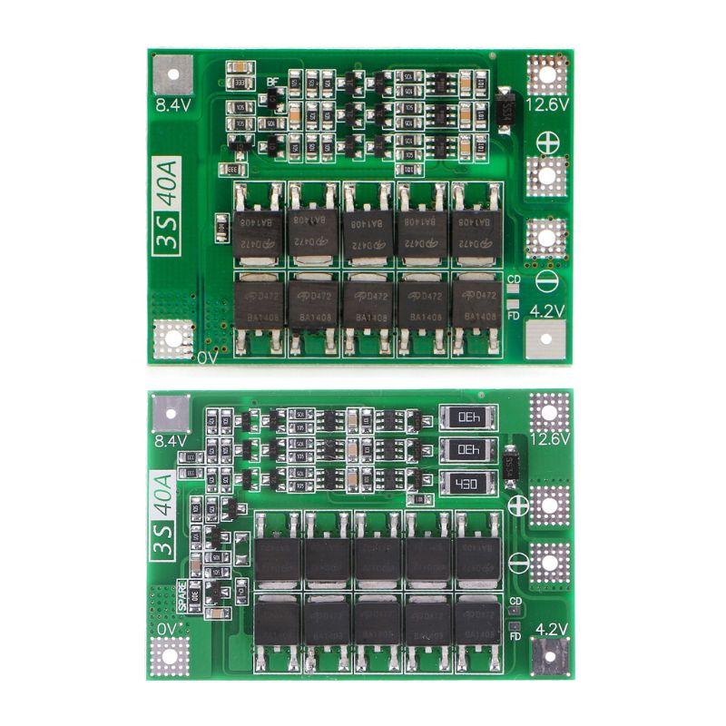 1pcs 3S 11.1V 12.6V 40A W/Balance 18650 Li-ion Lithium Battery BMS Protection Board Enhanced/Balanced Version