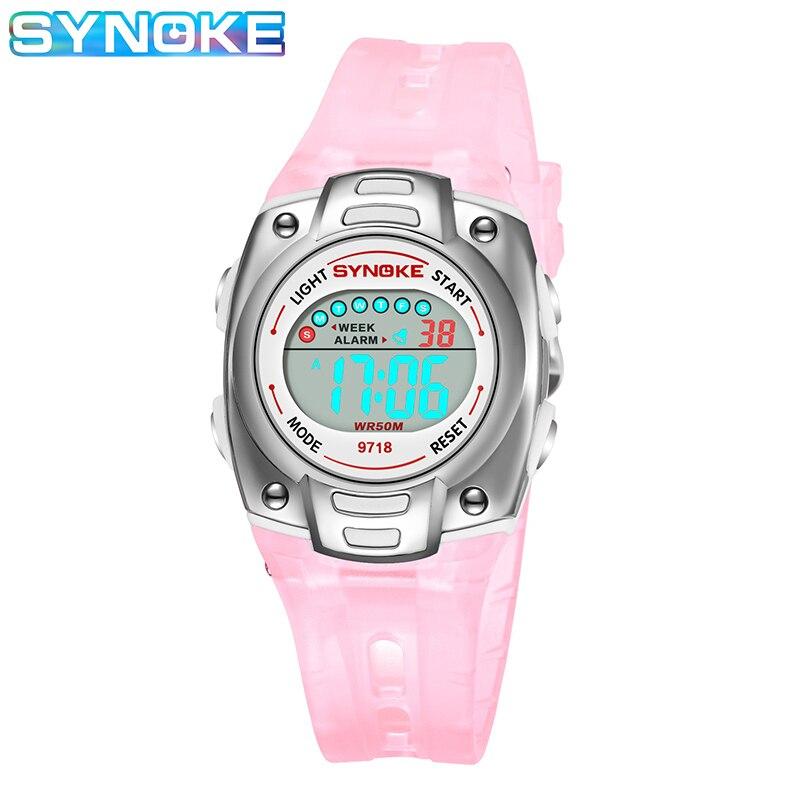 SYNOKE Digital Watch For Kids Boys Girls Watch Multi-function Luminous Daylight Date Display Watches Timing Dijital Kol Saati