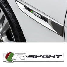 Emblem R Sport Sticker for Jaguar F-Type XK XF XJ XFR XJS Car Side Fender Rear Trunk 3D Metal Accessories