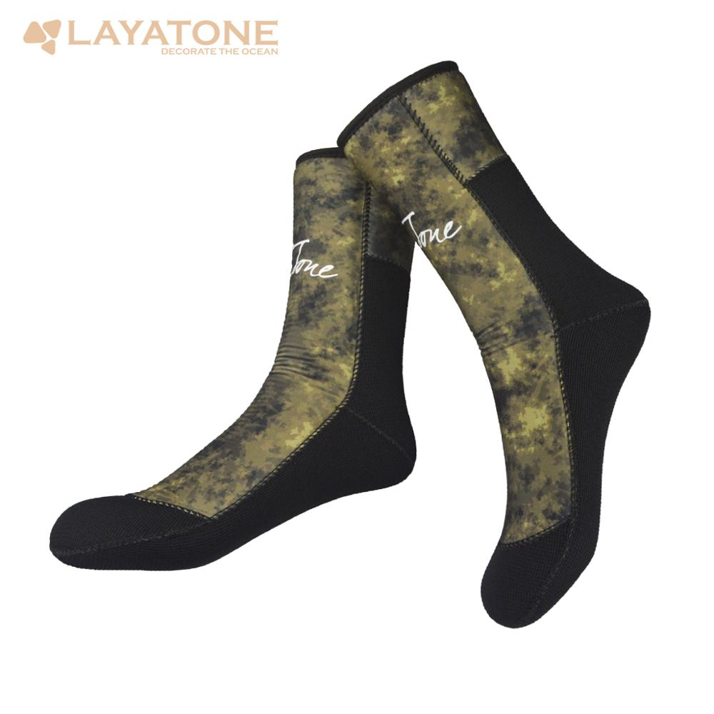 Layatone Diving Socks Men 7mm Neoprene Camouflage Wetsuit Boots Shoes Swimming Underwater Water Spearfishing Scuba Diving Socks