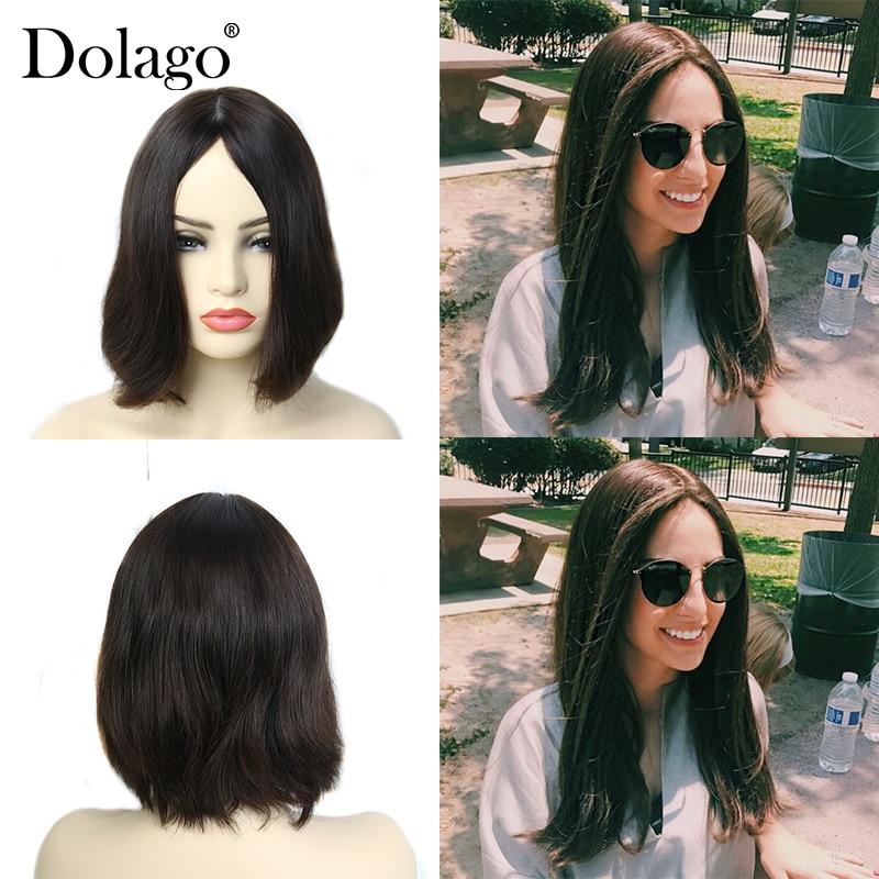 Dolago Kosher Jewish Wig Natural Hair 100% Human Hair Virgin Hair Silk Base Natural 130% Density Dolago