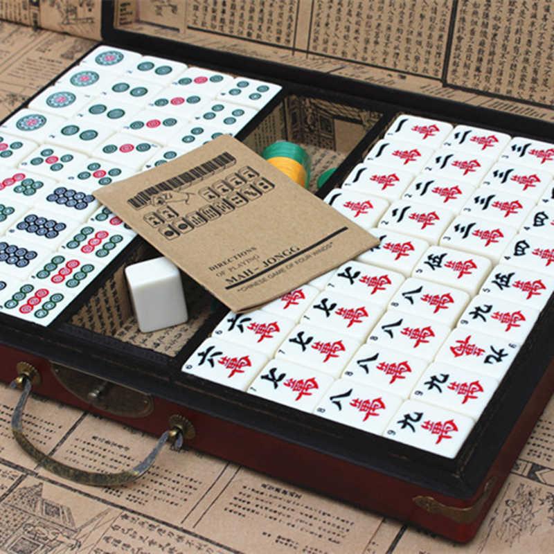 Mah-Jong Set Multi-color Portable Vintage Mini Mahjong for entertainment UULK
