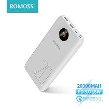 Внешний аккумулятор ROMOSS SW20 PS/Pro с 2 USB-портами для телефонов iPhone Android с поддержкой быстрой зарядки, 18 Вт, 20000 мАч