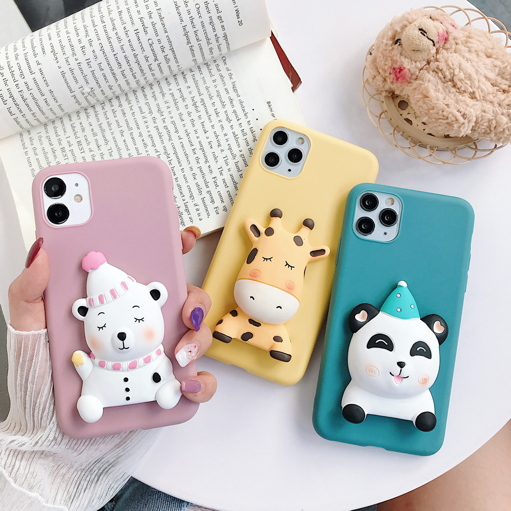 <font><b>Phone</b></font> Case For <font><b>OPPO</b></font> A3S/A5/A5S/A7/A9 2020/A37/A39/A57/A59/A73/A77/A79/A83/F5/F9/<font><b>F11</b></font> <font><b>Pro</b></font> Cartoon Dog Soft TPU Silicone Back Cover image