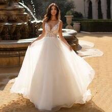 Свадебное платье bohe с v образным вырезом аппликация свадебное