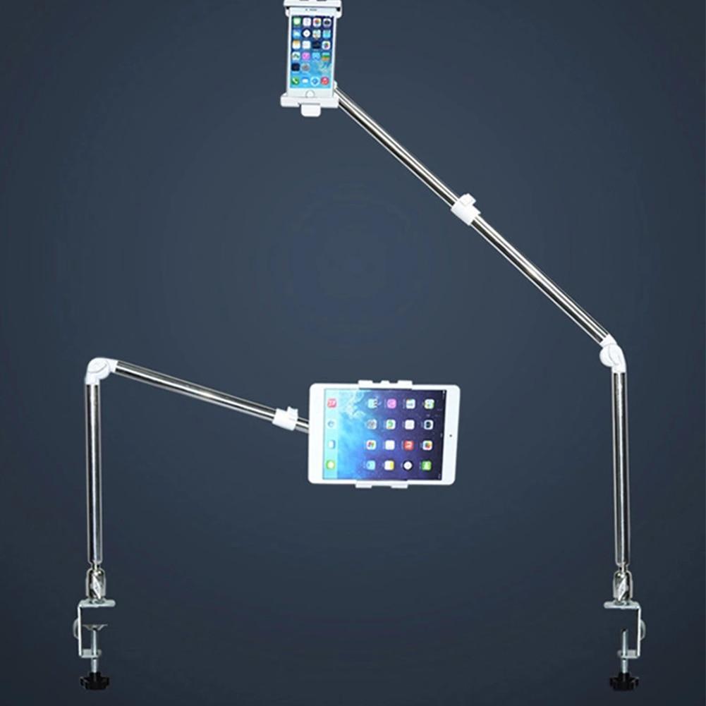 Настольная подставка для планшета 360 Вращающийся держатель для мобильного телефона ленивая кровать Настольный кронштейн и растягивающийс...