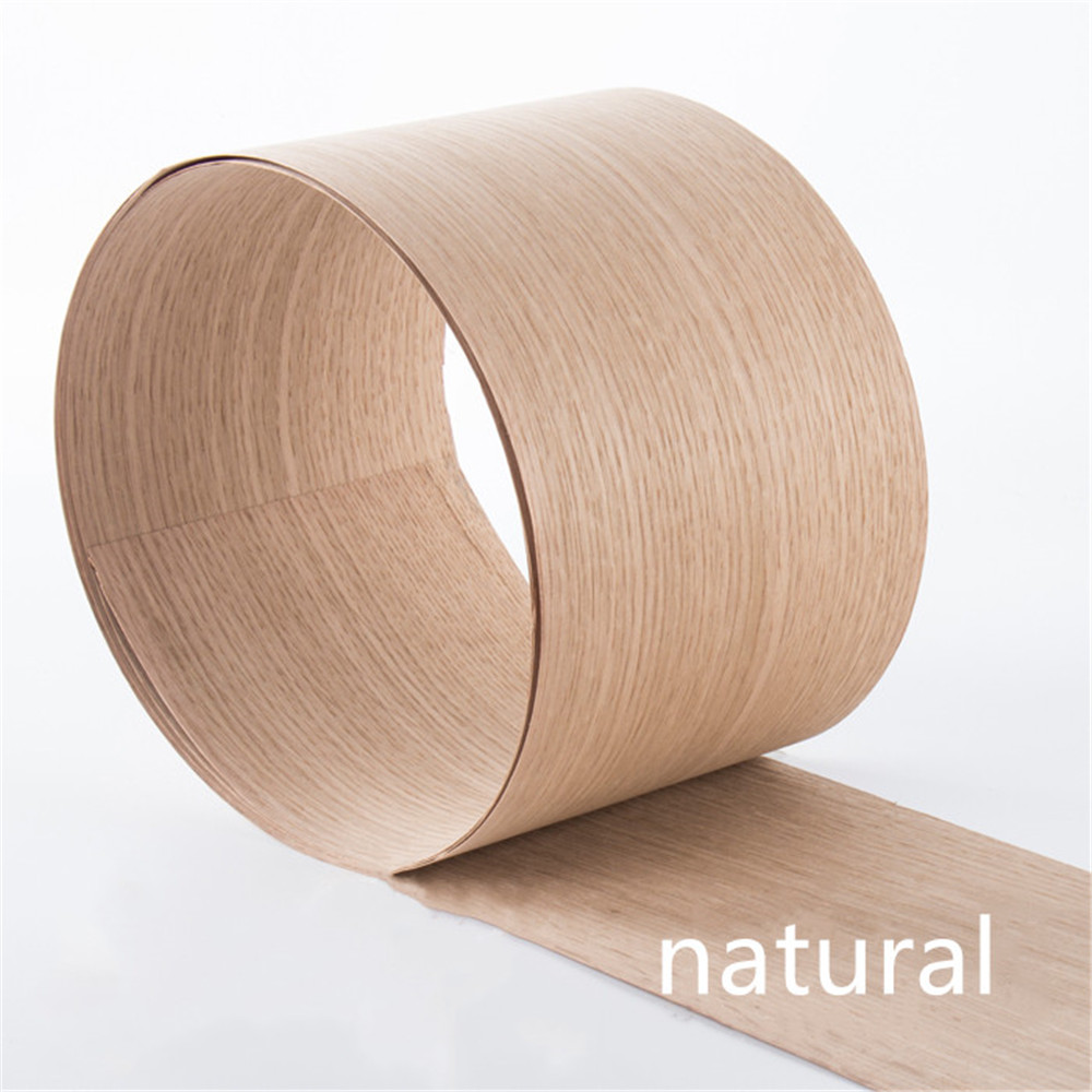 Natural Genuine Wood Veneer Sliced American White Oak Furniture Veneer About 15cm X 2.5m 0.4mm Thick Q/C
