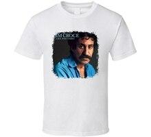 Printed T Shirts Jim Croce 70s Classic Rock n Roll Vintage Band Worn Look Music Shirt mens cotton T-shirt fashion
