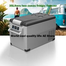 35 литров Автомобильный авто-холодильник AC/DC12/24 V 4X4 внедорожный портативный мини-холодильник Компрессор Автомобильный холодильник автомобильный холодильник для кемпинга