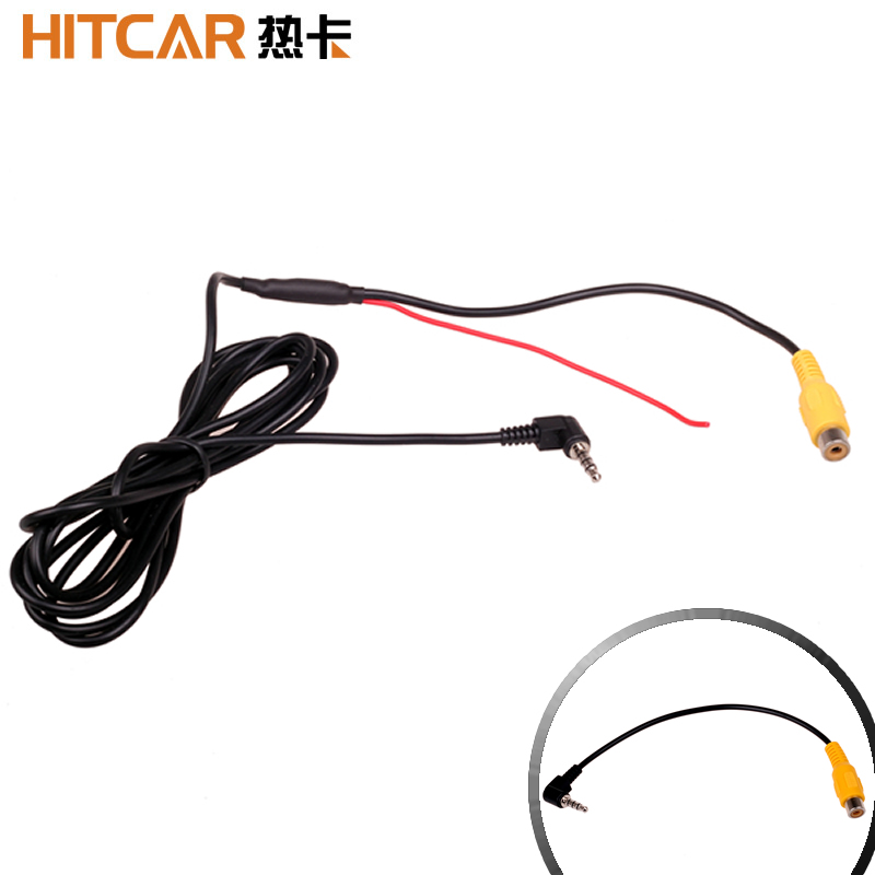 Car RCA To 2.5mm AV IN Converter Cable For Car Rear View Reverse Parking Camera To DVR Camcoder GPS Tablet